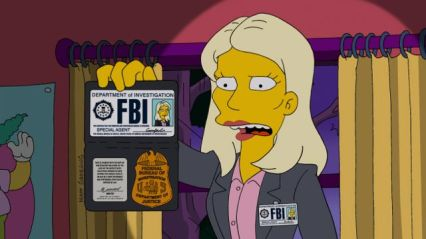 "THE SIMPSONS: Lisa enlists the services of Annie (guest voice Kristen Wiig), an intense, jumpy FBI agent to help her unravel the truth after Homer returns a changed man from a nuclear power plant operating convention in the all-new ""Homerland"" 25th season premiere episode of THE SIMPSONS airing Sunday, Sept. 29 (8:00-8:30 PM ET/PT) on FOX. THE SIMPSONS ™ and © 2013 TCFFC ALL RIGHTS RESERVED."